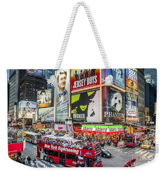 Times Square II Weekender Tote Bag