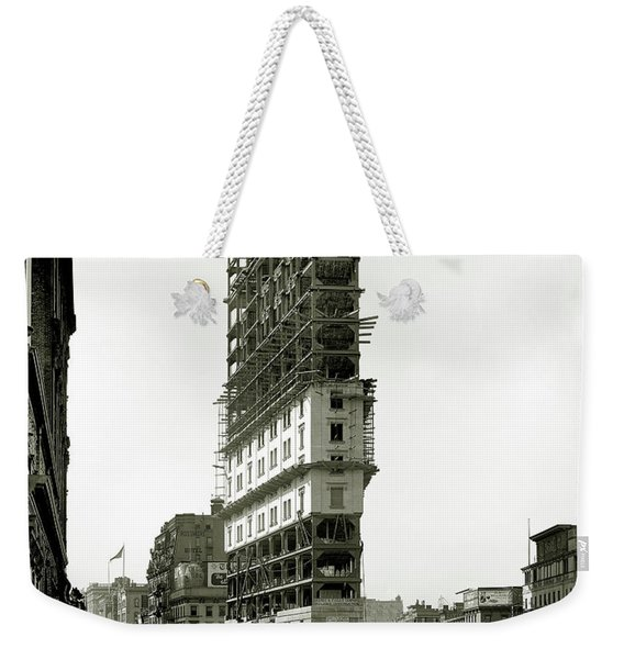 Times Square Under Construction Weekender Tote Bag