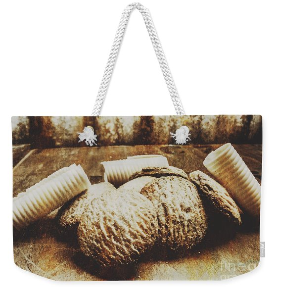 Tin Sign Baked Butter Biscuits Weekender Tote Bag