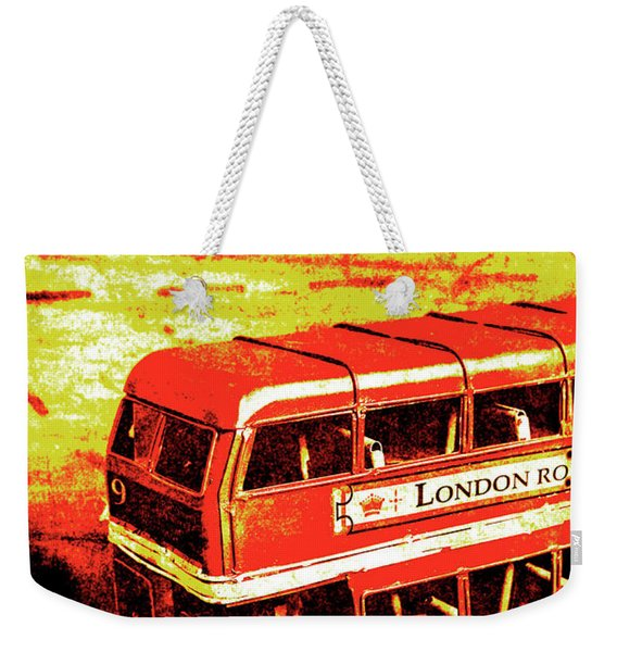 Tin Sign Travels Weekender Tote Bag