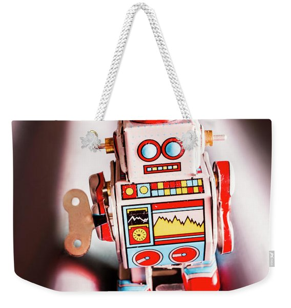 Tin Toys From 1980 Weekender Tote Bag