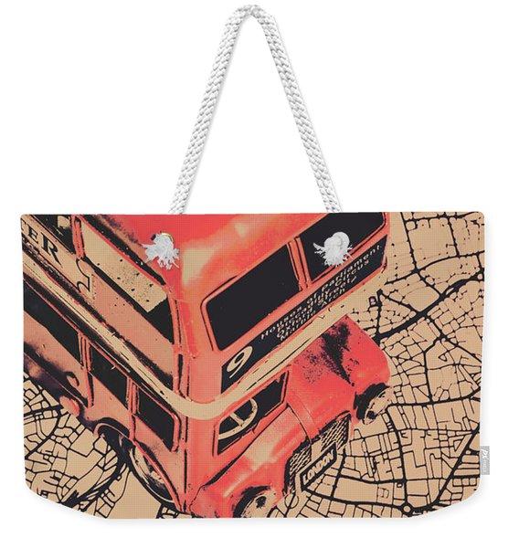 Tin Travel Tour Weekender Tote Bag