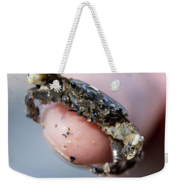 Tiny Crab Weekender Tote Bag