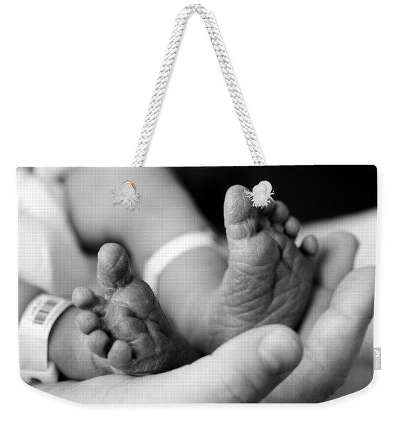 Tiny Feet Weekender Tote Bag