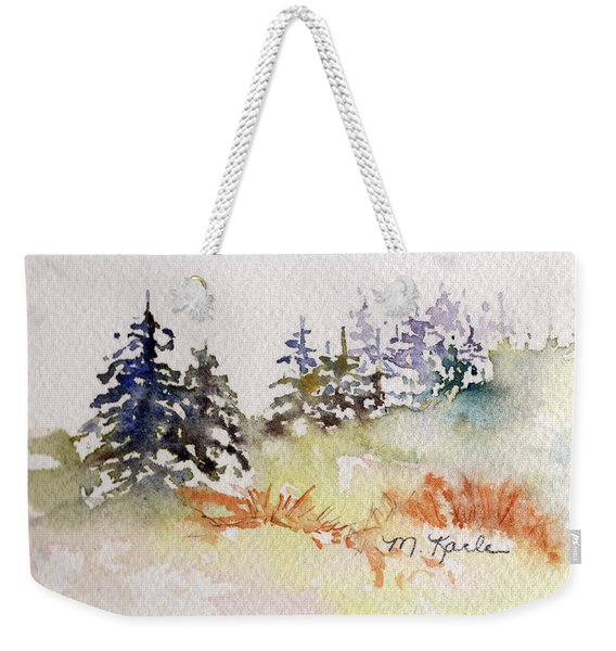 Tiny Winter Treescape Weekender Tote Bag
