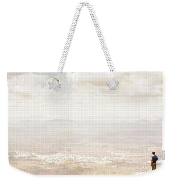 Tip Of Mt Zeehan Tasmania  Weekender Tote Bag
