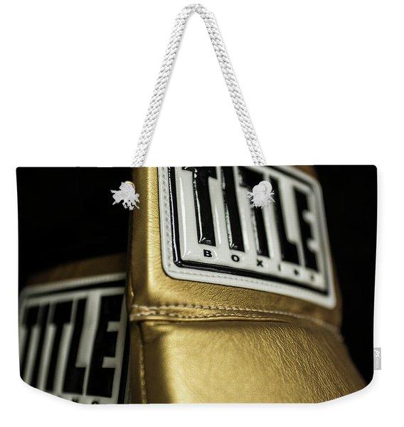 Title Boxing Gloves Weekender Tote Bag