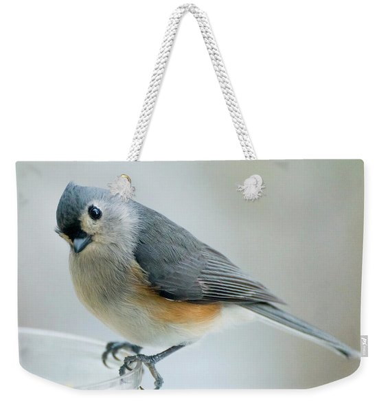Titmouse With Walnuts Weekender Tote Bag