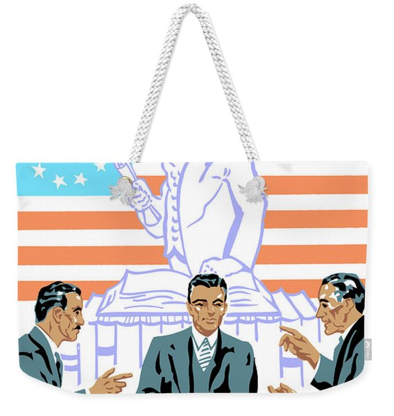 To Speak Up For Democracy Read Up On Democracy Weekender Tote Bag