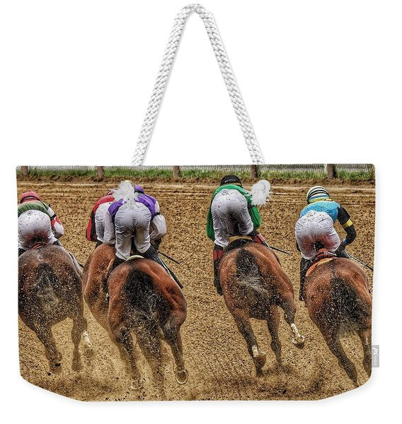 To The Finish Weekender Tote Bag