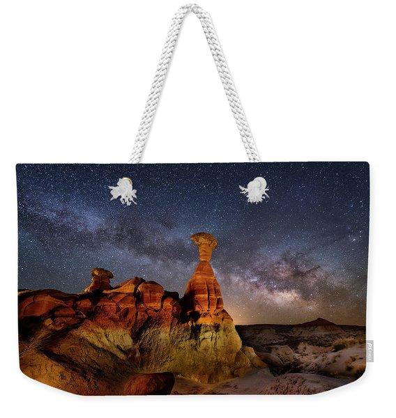 Toadstool Milky Way Weekender Tote Bag