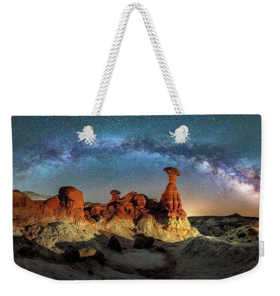 Toadstool Milky Way Pano Weekender Tote Bag