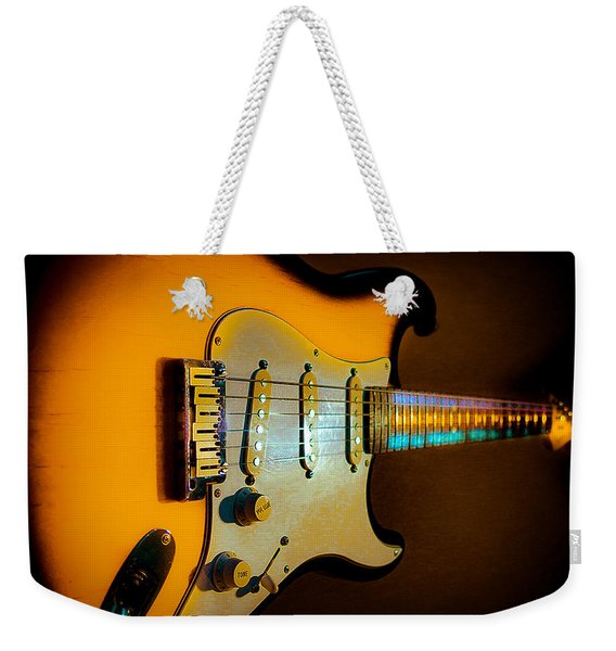 Tobacco Burst Stratocaster Glow Neck Series Weekender Tote Bag