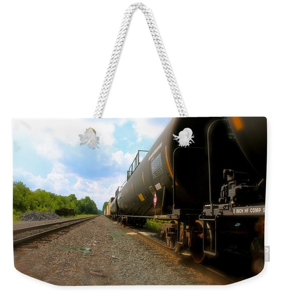 Tobyhanna Freight Train Weekender Tote Bag