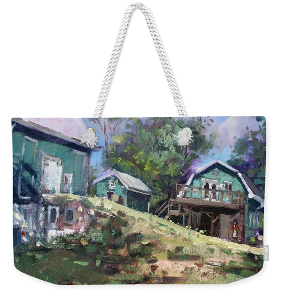 Today Morning At Carter Farms In Norval Weekender Tote Bag