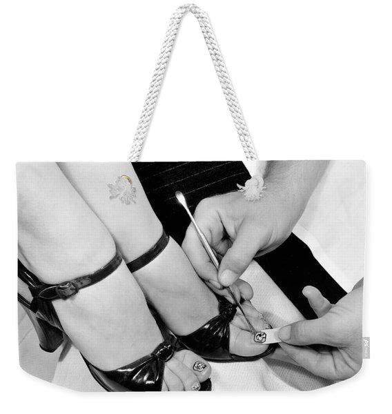 Toe Nail Tattoos Weekender Tote Bag