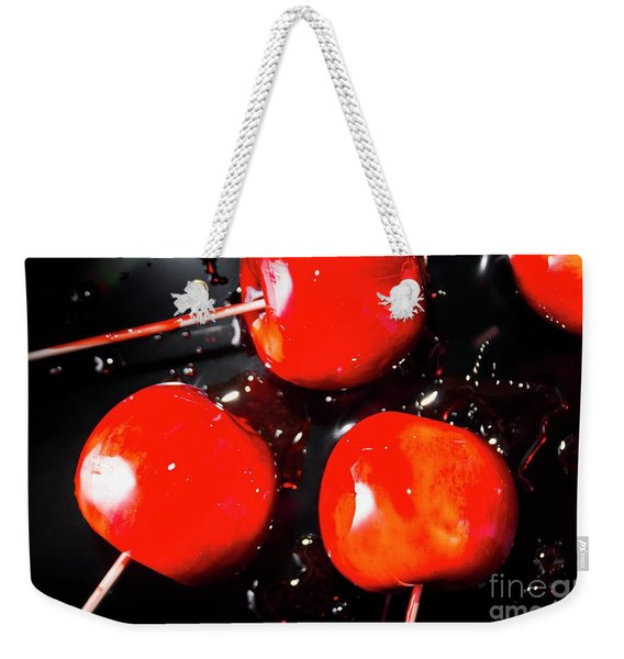 Toffee Apple Splash. Fine Art Food Weekender Tote Bag