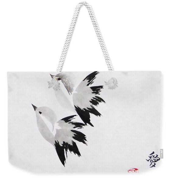 Together We'll Fly Side By Side Weekender Tote Bag