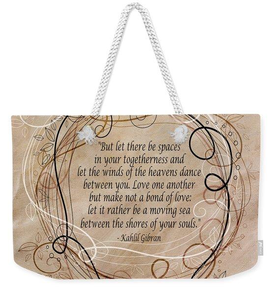 Togetherness Weekender Tote Bag