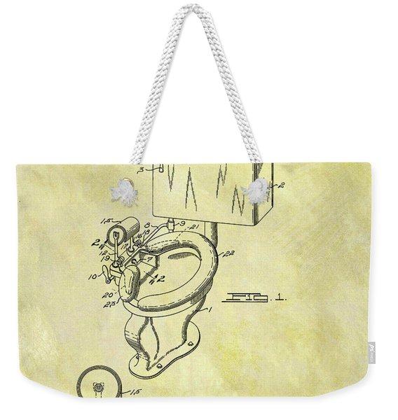 Toilet Bowl Patent Weekender Tote Bag