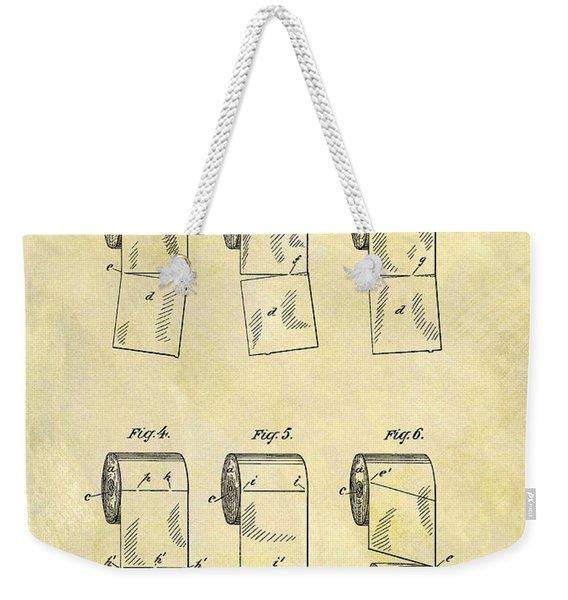 Toilet Paper Patent Illustration Weekender Tote Bag