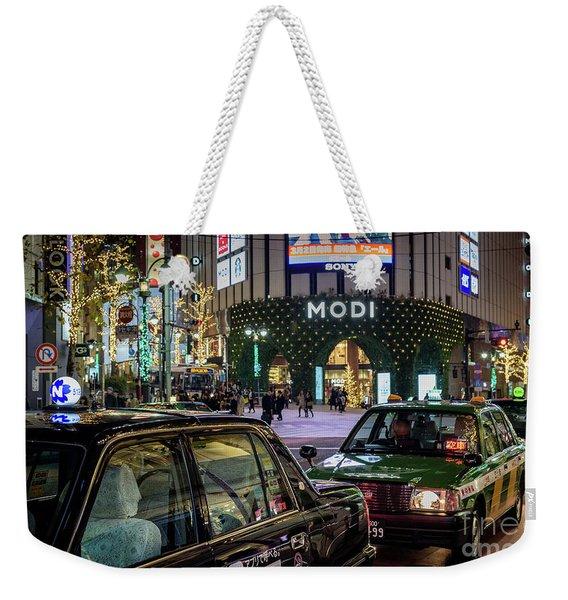 Tokyo Taxis, Japan Weekender Tote Bag