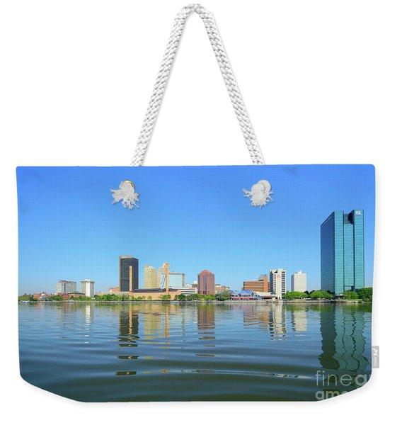 D12u-673 Toledo Ohio Skyline Photo Weekender Tote Bag