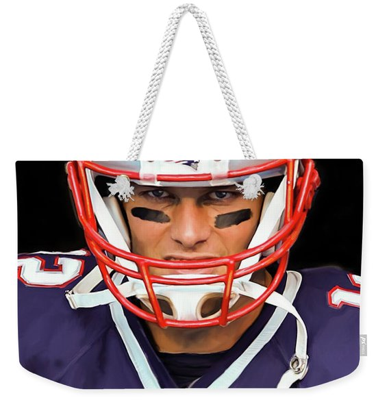 Tom Brady - Patriots Weekender Tote Bag