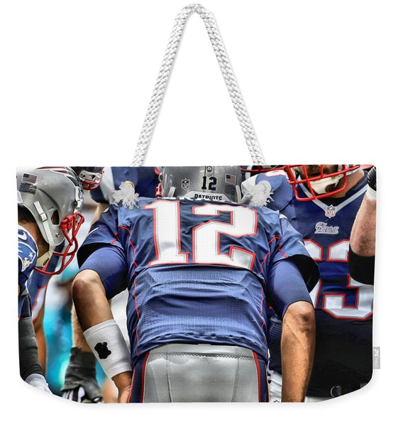 Tom Brady Art 3 Weekender Tote Bag