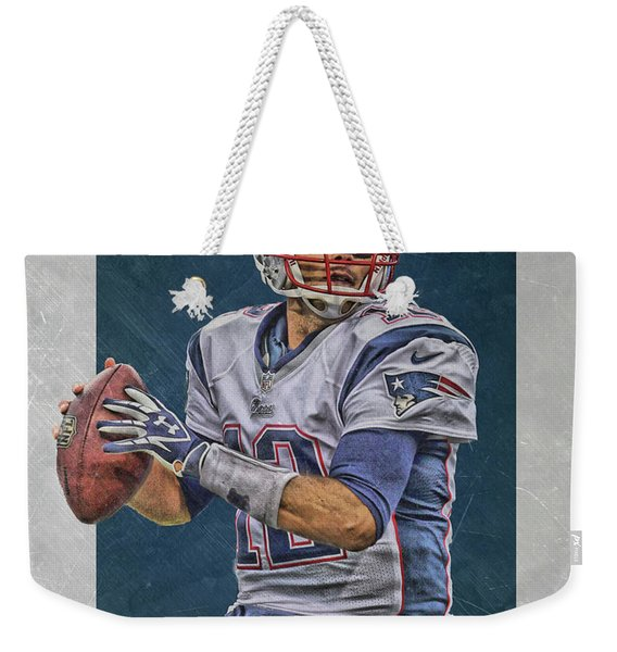 Tom Brady New England Patriots Art Weekender Tote Bag