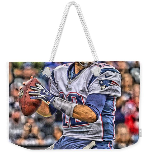 Tom Brady New England Patriots Weekender Tote Bag
