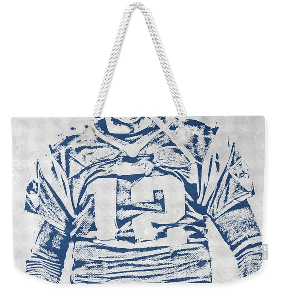 Tom Brady New England Patriots Pixel Art 1 Weekender Tote Bag