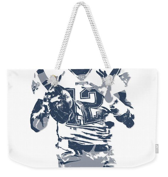 Tom Brady New England Patriots Pixel Art 10 Weekender Tote Bag
