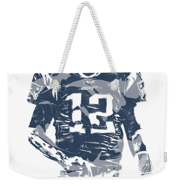 Tom Brady New England Patriots Pixel Art 12 Weekender Tote Bag