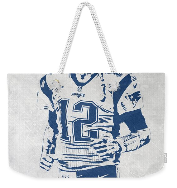 Tom Brady New England Patriots Pixel Art 2 Weekender Tote Bag