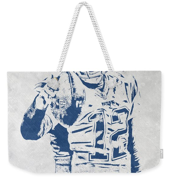 Tom Brady New England Patriots Pixel Art 3 Weekender Tote Bag