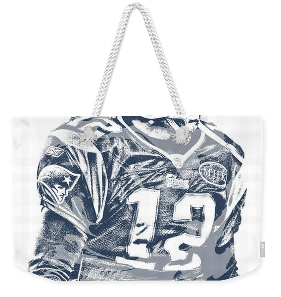 Tom Brady New England Patriots Pixel Art 41 Weekender Tote Bag