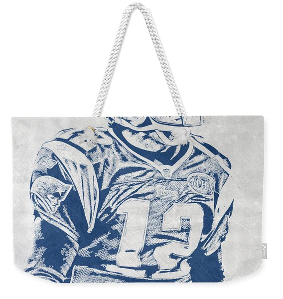 Tom Brady New England Patriots Pixel Art 5 Weekender Tote Bag
