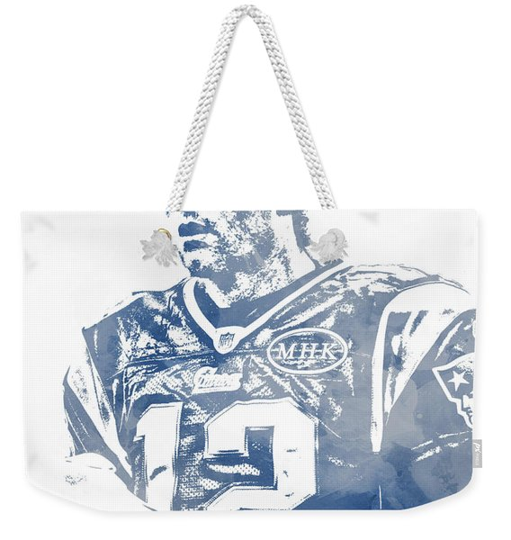 Tom Brady New England Patriots Water Color Pixel Art 6 Weekender Tote Bag