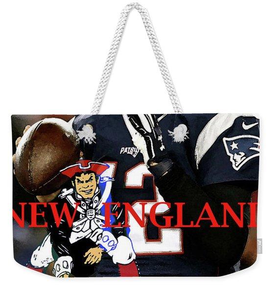 Tom Brady, Number 12, New England Patriots, Captain America Weekender Tote Bag