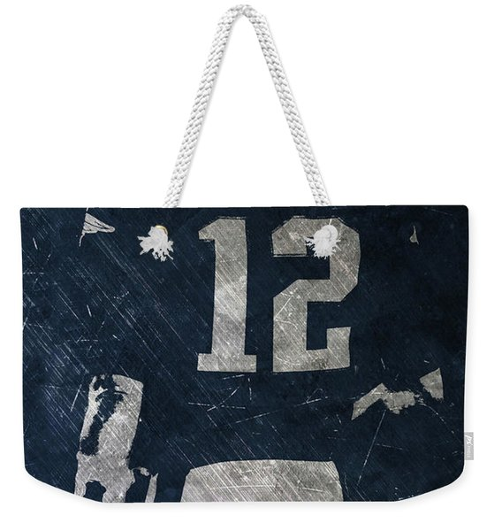 Tom Brady Patriots 3 Weekender Tote Bag