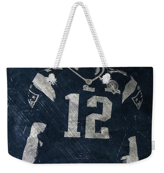 Tom Brady Patriots 4 Weekender Tote Bag