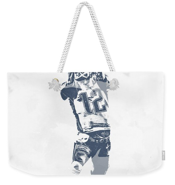 Tom Brady The Drop New England Patriots Pixel Art Weekender Tote Bag