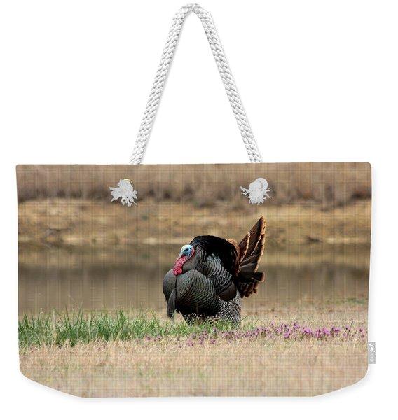 Tom Turkey At Pond Weekender Tote Bag