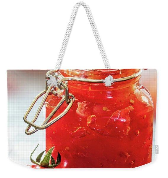 Tomato Jam In Glass Jar Weekender Tote Bag