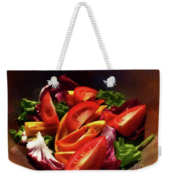 Tomato Salad Weekender Tote Bag