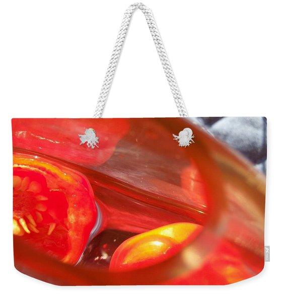 Tomatoe Red Weekender Tote Bag
