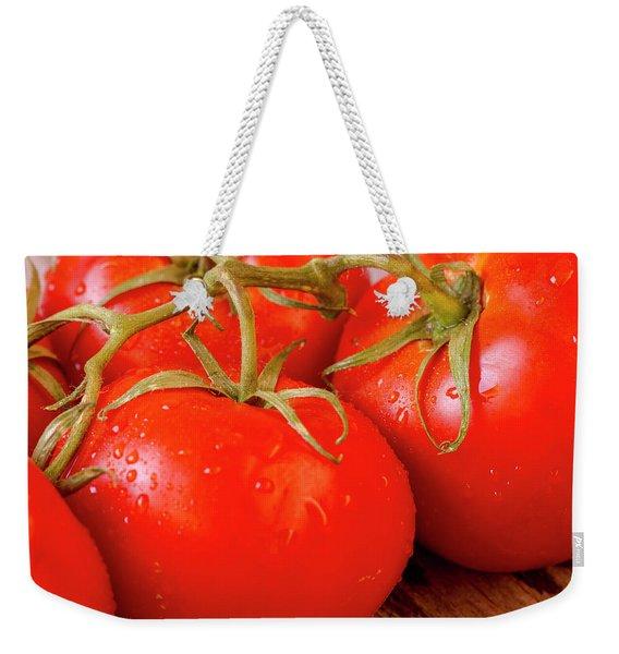 Tomatoes On The Vine Weekender Tote Bag