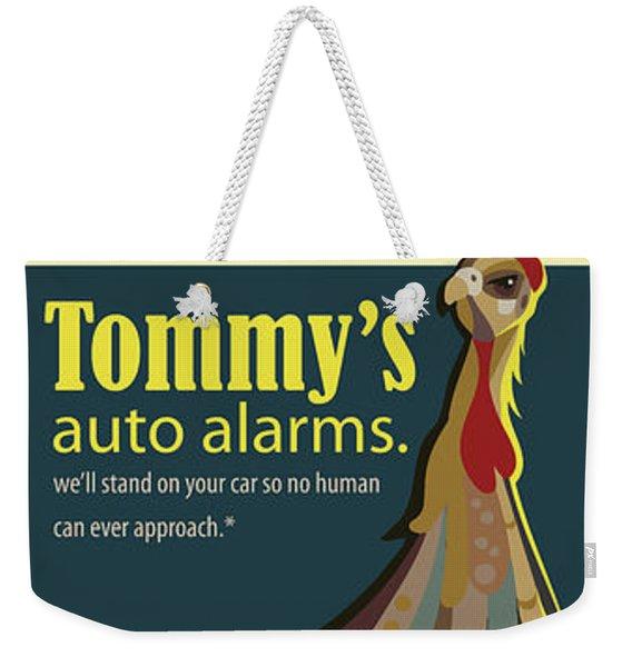 Tommy's Alarms Weekender Tote Bag