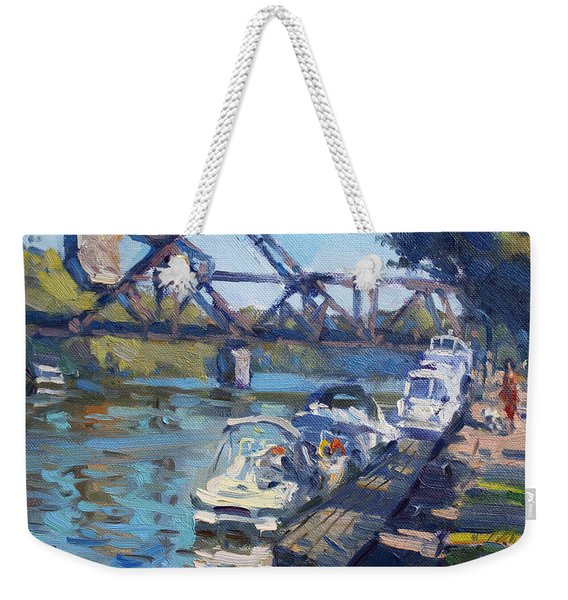 Tonawanda Jack Knife Bridge Weekender Tote Bag